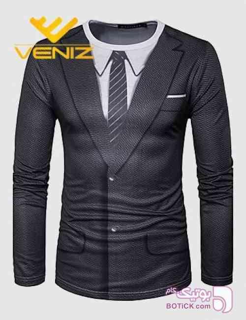 تیشرت مردانه ونیز مشکی تی شرت مردانه