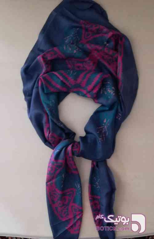 روسری ابریشم سورمه ای شال و روسری