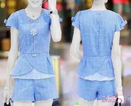 تاپ شورت  آبی لباس راحتی زنانه