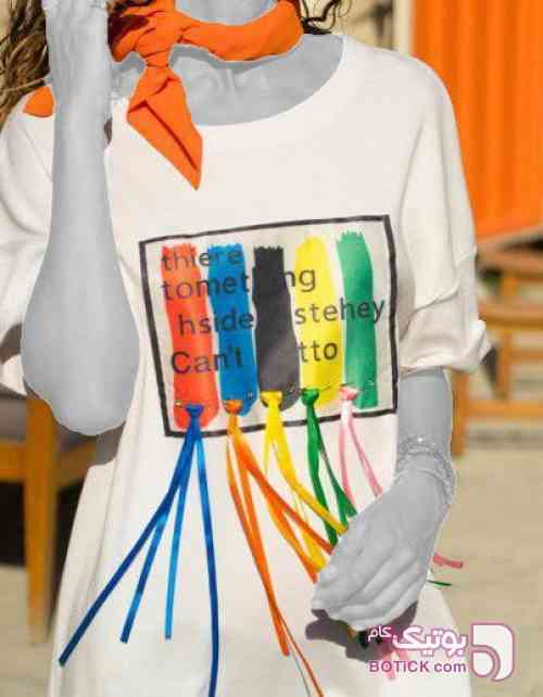 alachati سفید تی شرت زنانه
