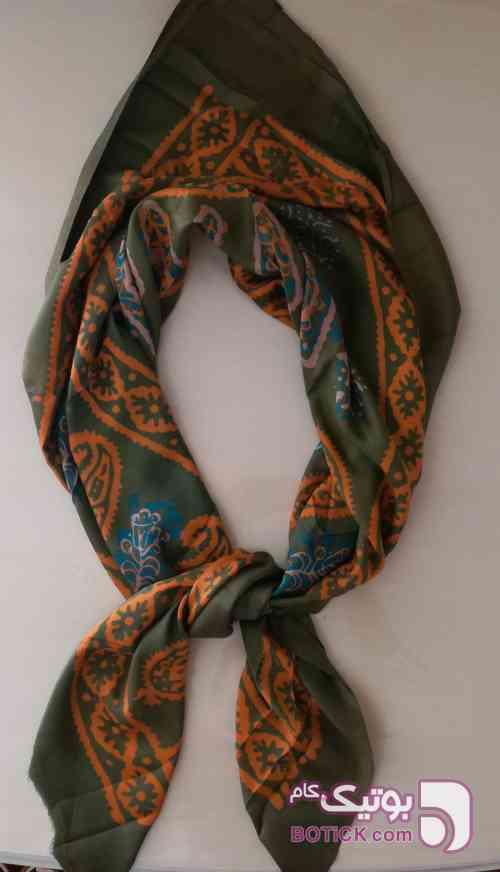 روسری ابریشم نارنجی شال و روسری
