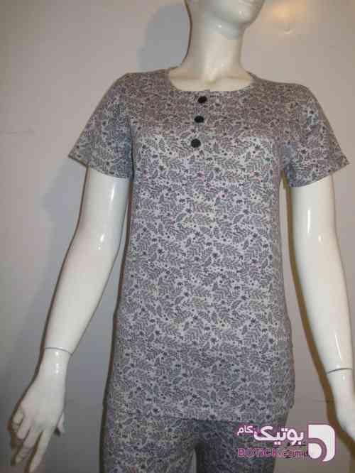 تیشرت شلوار زنانه نقره ای لباس راحتی زنانه
