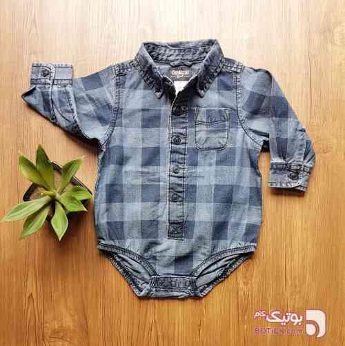 پیراهن پسرانه سورمه ای لباس کودک پسرانه