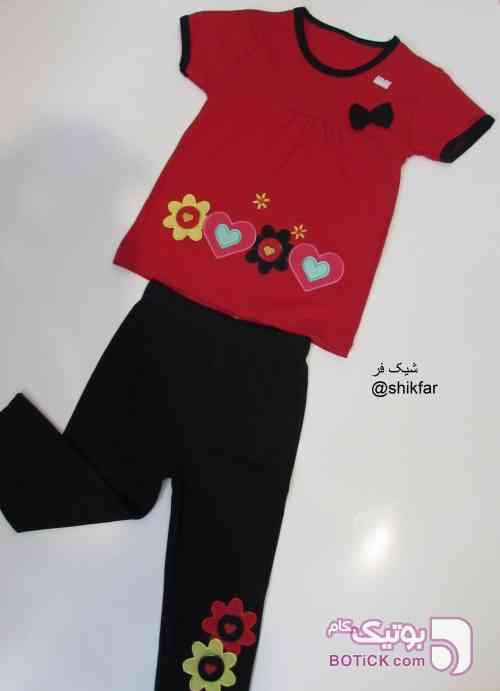 تیشرت شلوار مشکی لباس کودک دخترانه