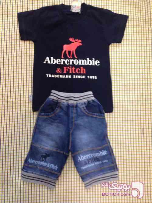 تیشرت شلوارک جین سورمه ای لباس کودک پسرانه