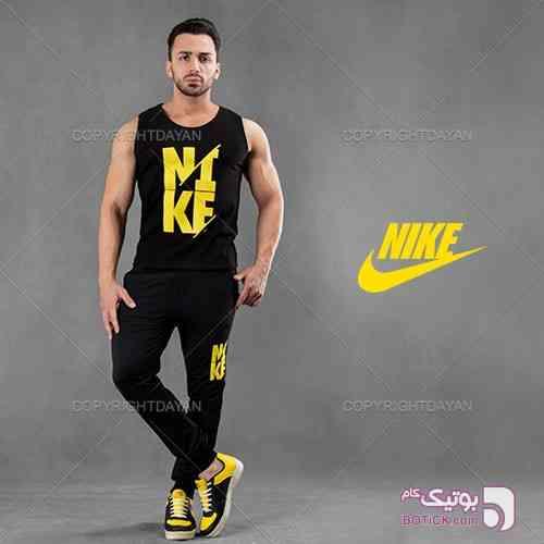 ست رکابی و شلوار Nike مدل Dapany  زرد شلوار مردانه
