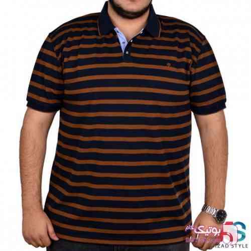 تی شرت آستین کوتاه سایز بزرگ  tony2213 مشکی سایز بزرگ مردانه
