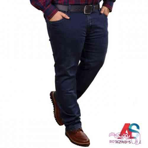 شلوار جین سایز بزرگ کد محصول blan 102 سفید سایز بزرگ مردانه