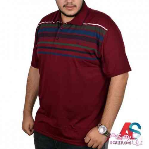 تی شرت آستین کوتاه سایز بزرگ  tony2210 سفید سایز بزرگ مردانه