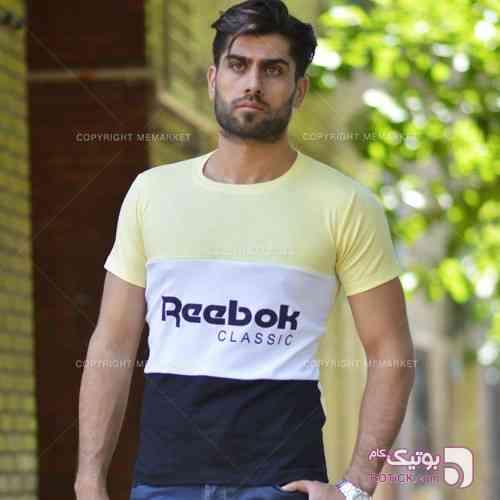 تيشرت مردانه REEBOK مدل DENKA  زرد تی شرت مردانه