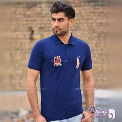 تيشرت مردانه مدل BARLA سرمه اي  آبی تی شرت مردانه