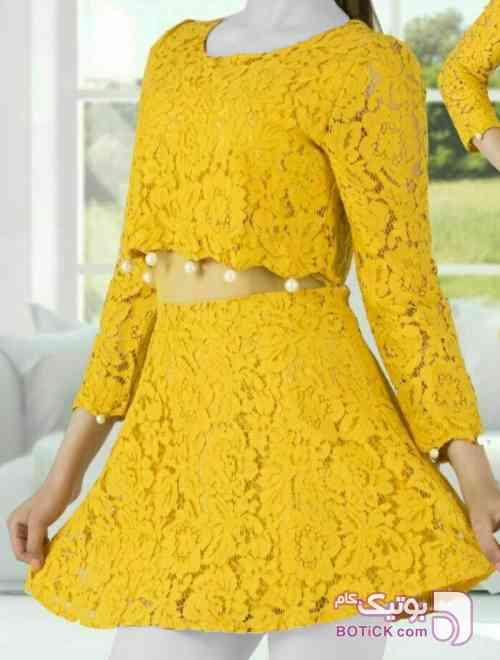 سلنا وارداتی زرد لباس  مجلسی