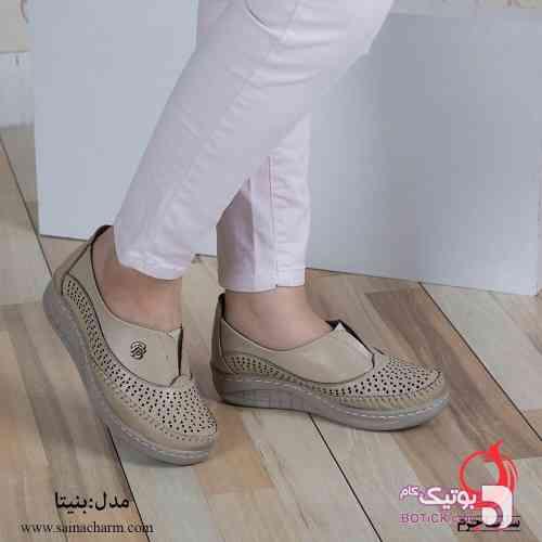 کفش نقره ای كفش زنانه