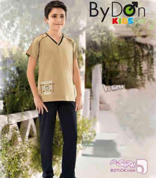ست تیشرت و شلوار پسرانه بایدون  5667 - لباس کودک پسرانه