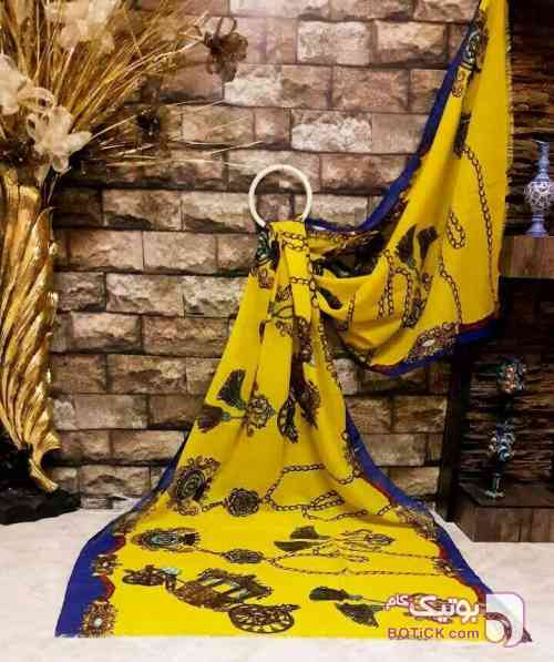 شال نخ ترک  زرد شال و روسری