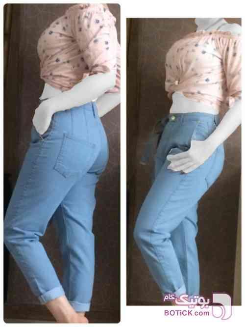 شلوار جین مام استایل  سورمه ای شلوار زنانه