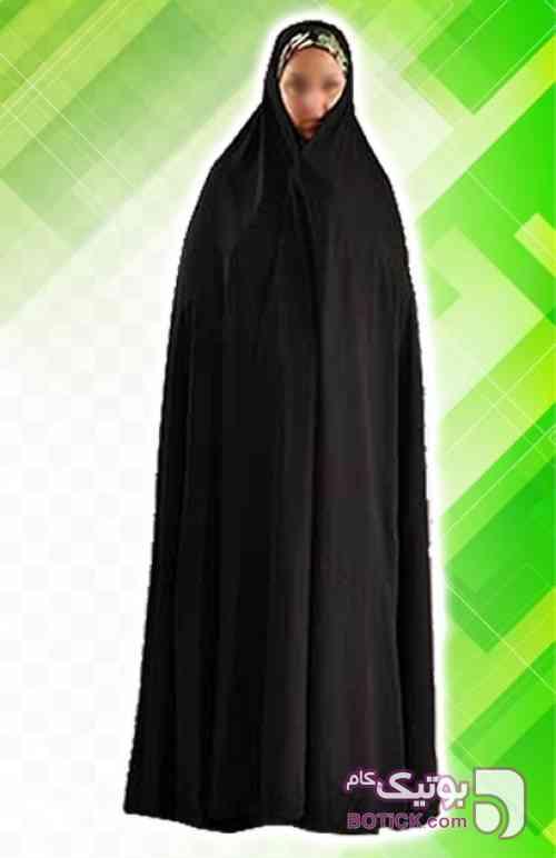 چادر ایرانی ساده کرپ کن کن مشکی چادر و مقنعه