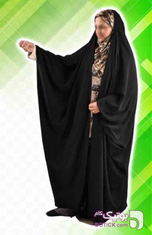 چادر جده عبایی کرپ کن کن ژرژت مشکی چادر و مقنعه