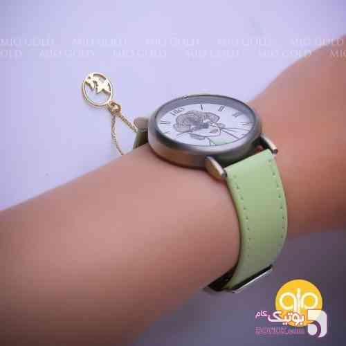 ساعت مچی سبز ساعت