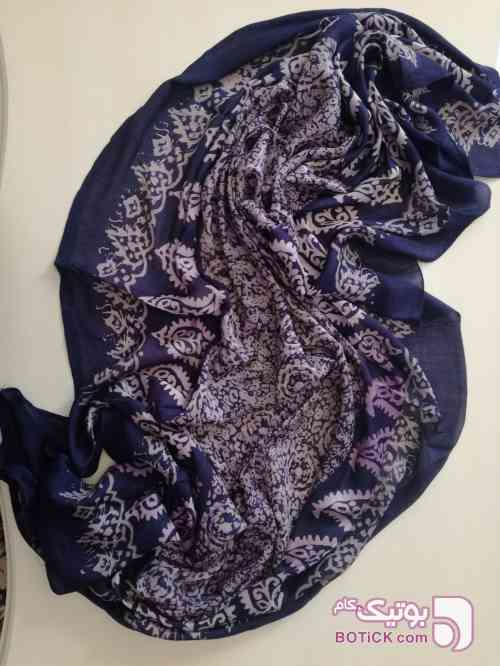 روسری نخی آبی شال و روسری