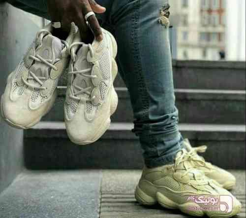 Adidas - yeezi 500 زرد كتانی مردانه