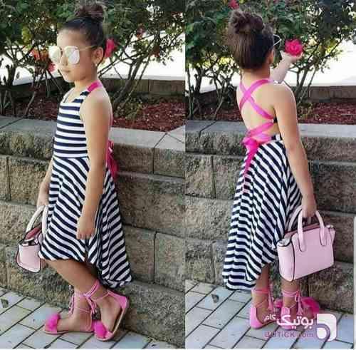 پیراهن دخترانه - لباس کودک دخترانه