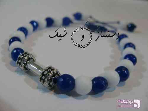 دستبند لوکس سنگ و دنبل سواروسکی سفید دستبند و پابند