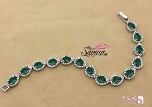 دستبند نقره زمرد سبز دستبند و پابند