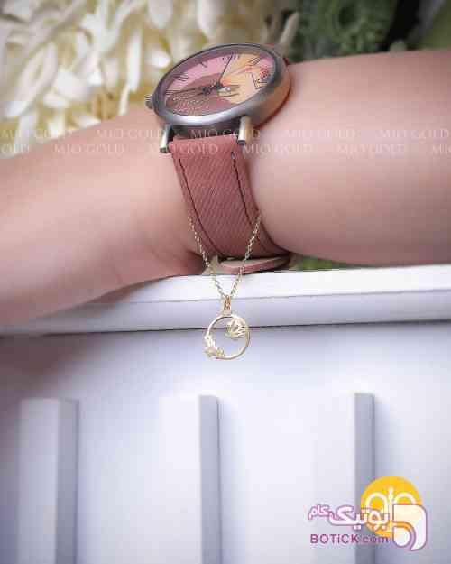 آویز ساعت طلایی دستبند و پابند