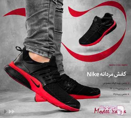 اسپرت  Nike مدل Yarra (مشکی قرمز) مشکی كفش مردانه