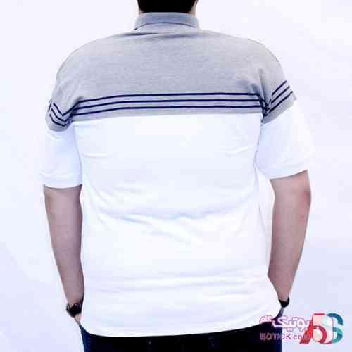 تیشرت سایز بزرگ کد محصول TF651 سفید سایز بزرگ مردانه