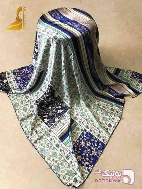 روسری آبی شال و روسری