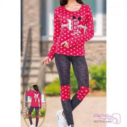 بلوز شلوار تکنور  قرمز لباس راحتی زنانه