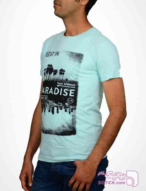 تی شرت آستین کوتاه تام تیلور TOM TAILOR فیروزه ای تی شرت مردانه
