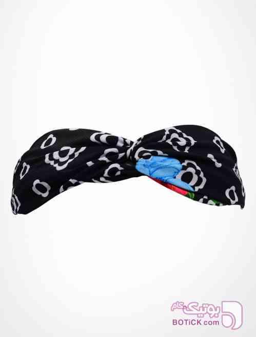 هدبند گره ای طرح LV مشکی شال و روسری
