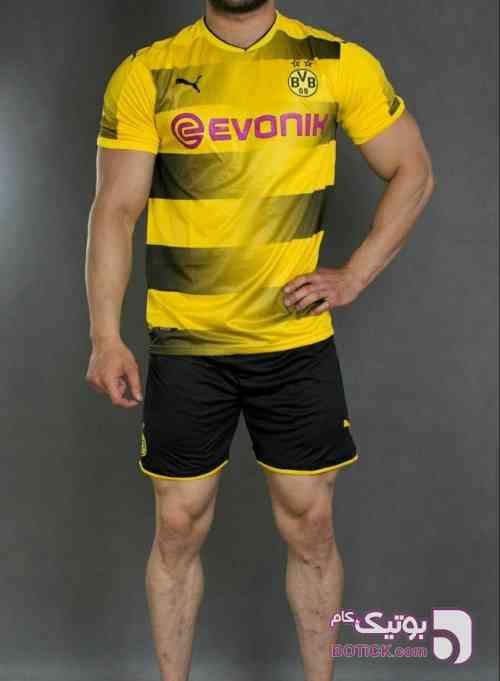 کیت ورزشی تیم دورتموند زرد ست ورزشی مردانه