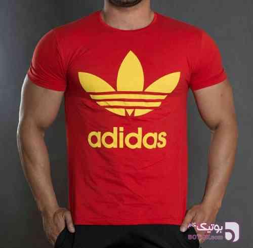 تیشرت آدیداس قرمز تی شرت مردانه