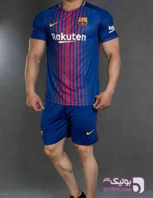 کیت ورزشی تیم بارسلونا سورمه ای ست ورزشی مردانه