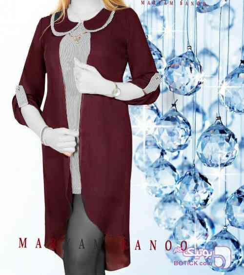 مدل فرانک سورمه ای پيراهن زنانه