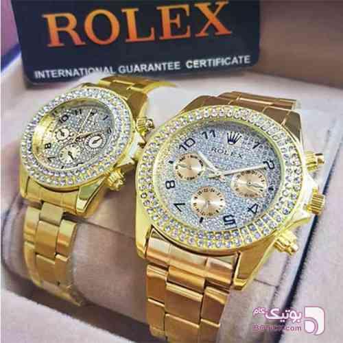 ست ساعت مردانه و زنانه ROLEX  نقره ای ساعت