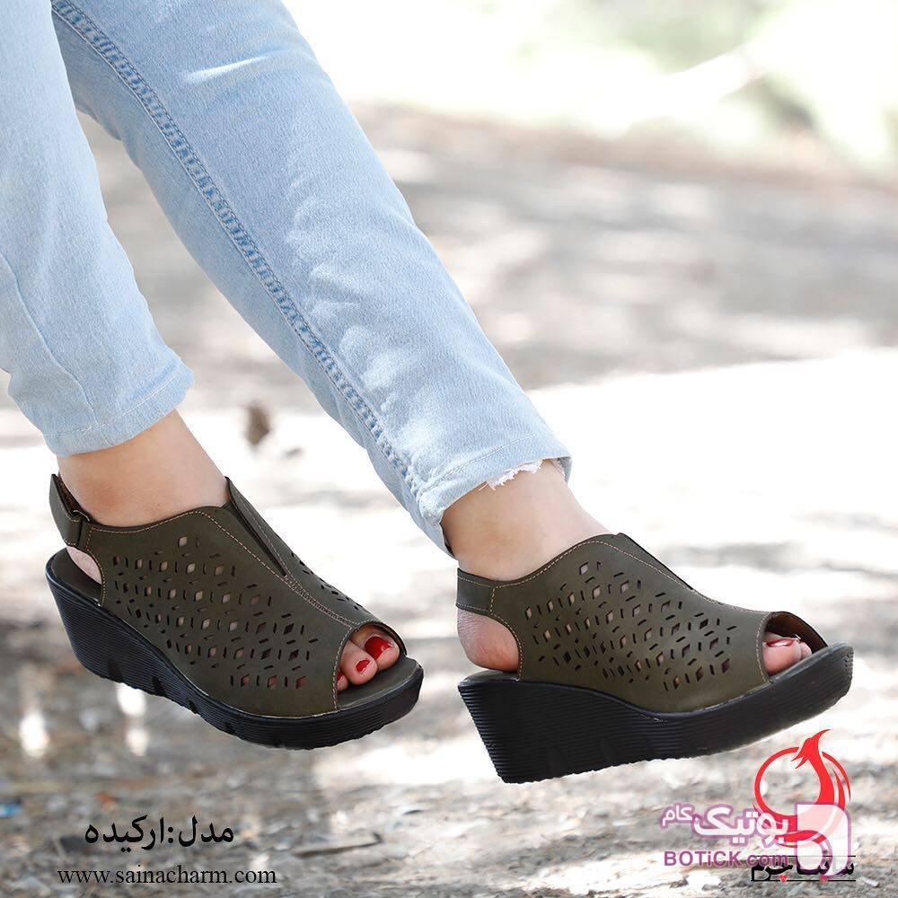 کفش زنانه طوسی كفش زنانه
