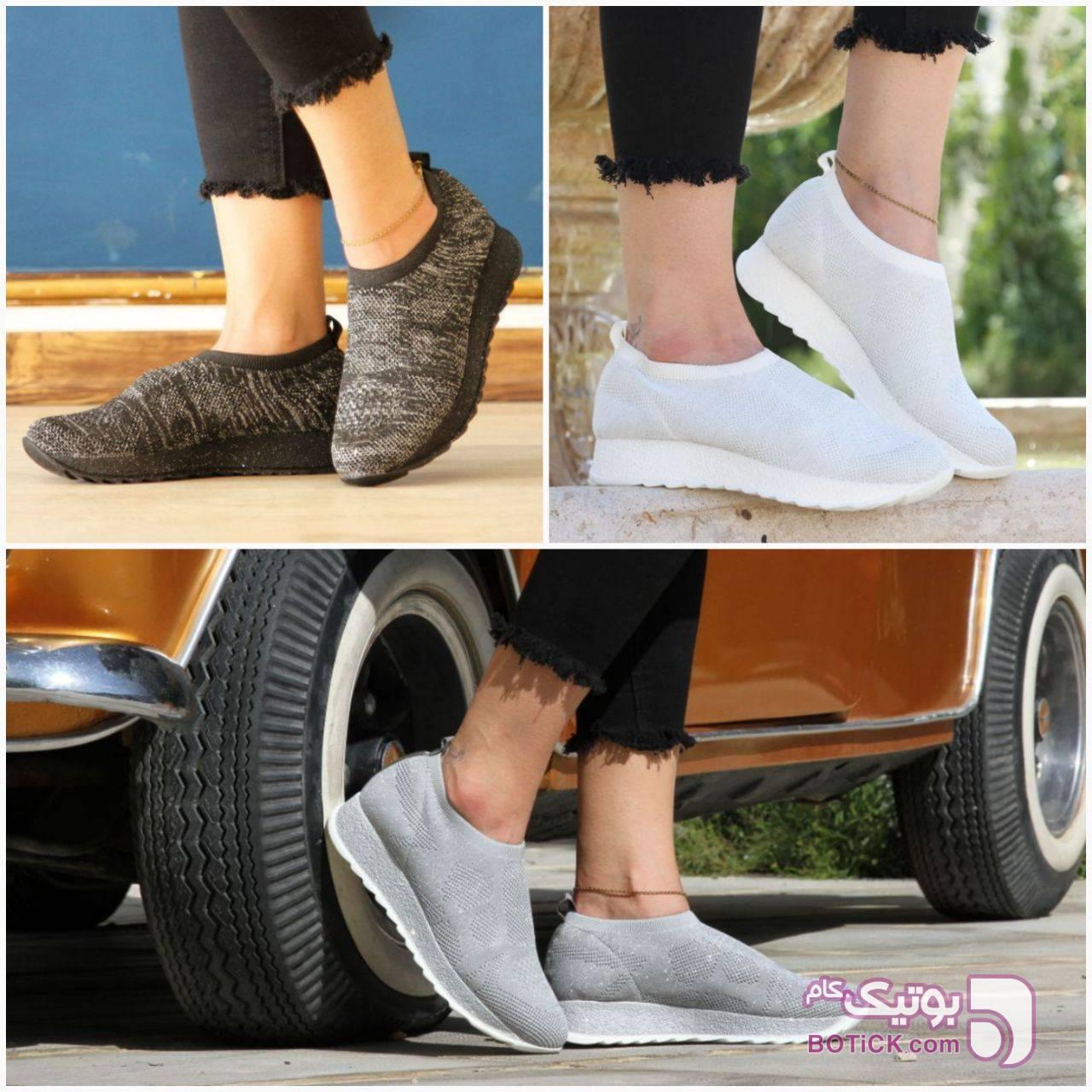 کفش اسپرت مشکی كتانی زنانه