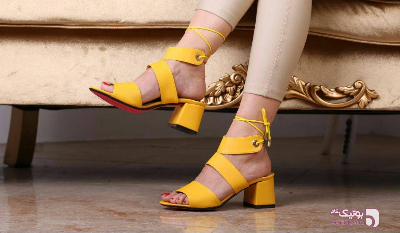 کفش مجلسی زرد كفش زنانه