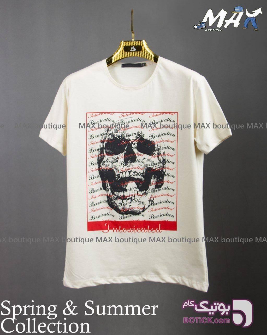 تیشرت آستین کوتاه سایز بزرگ کرم تی شرتو پولو شرت مردانه