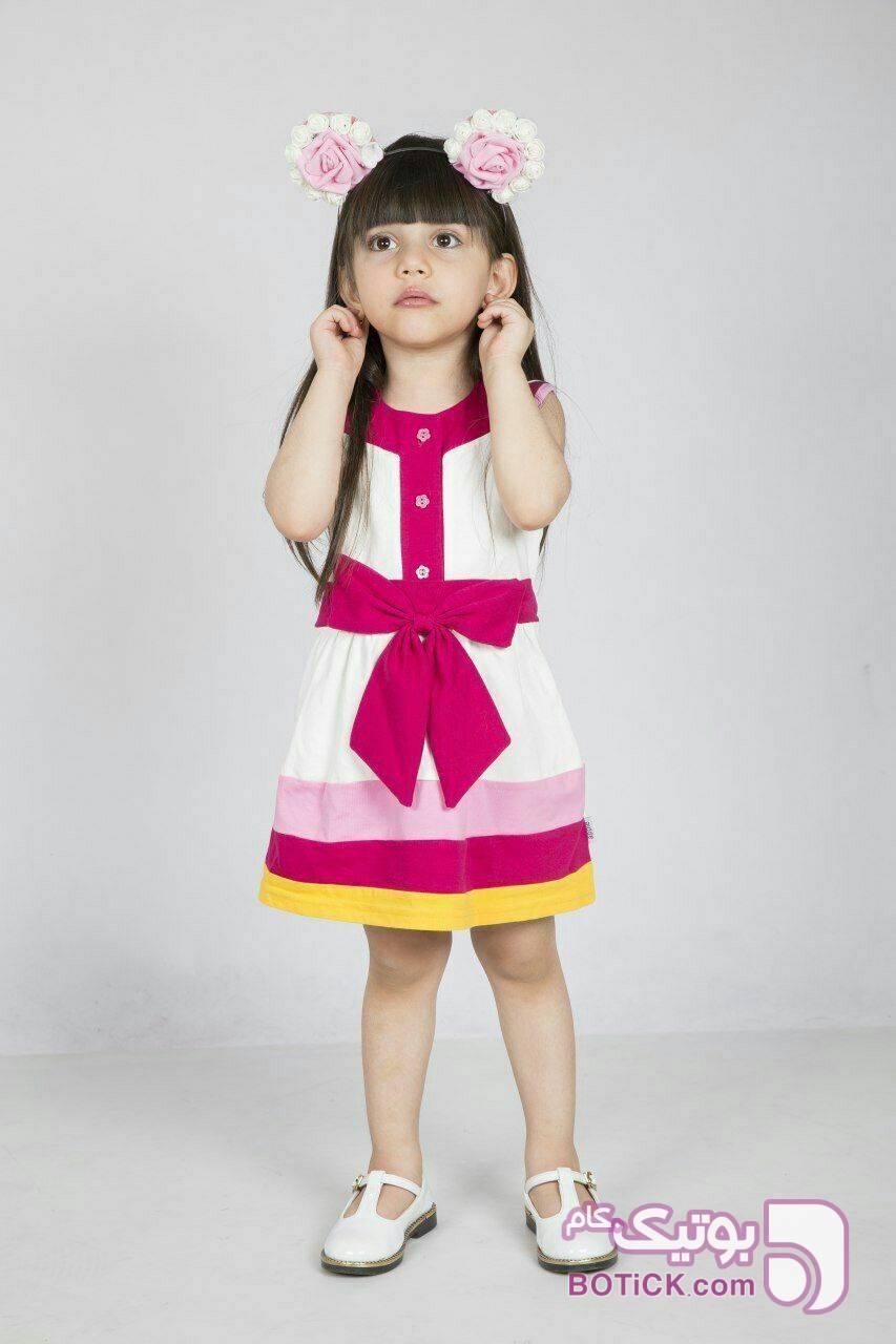سارافن صورتی لباس کودک دخترانه