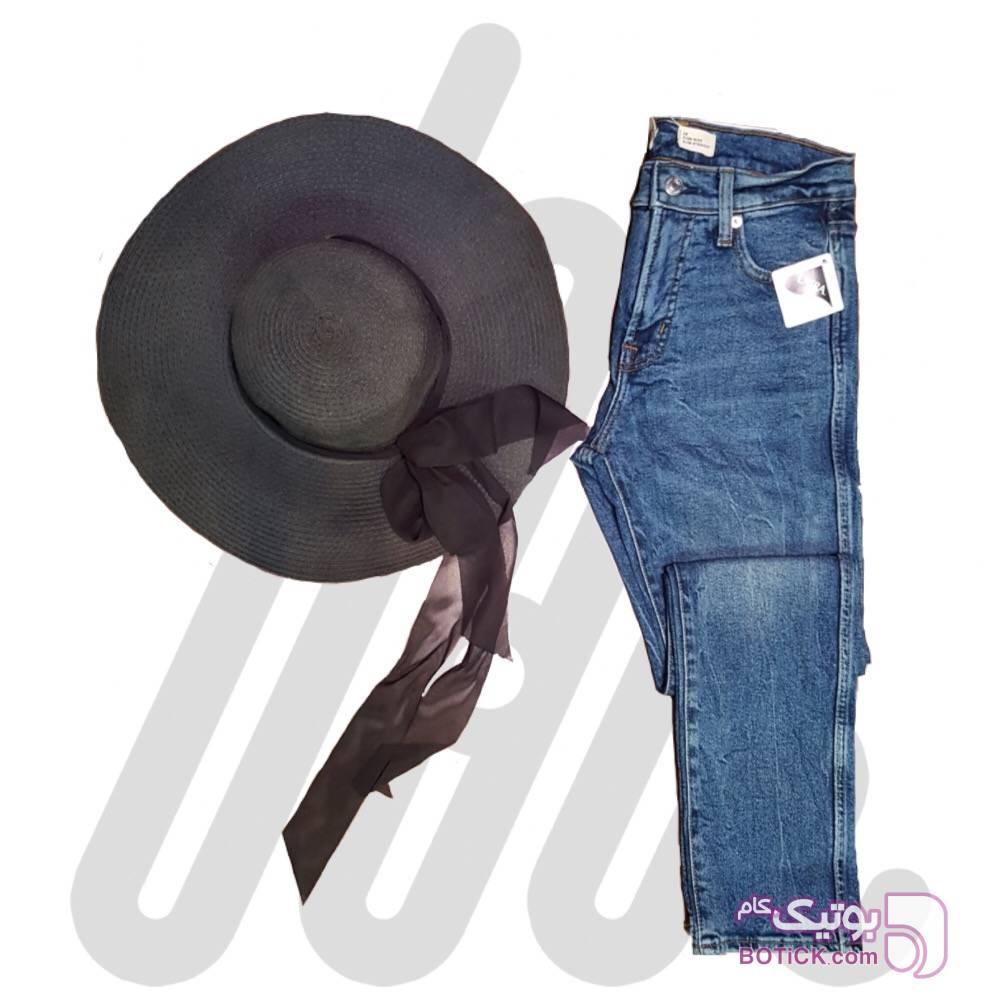 شلوار جین مام استایل آبی شلوار زنانه