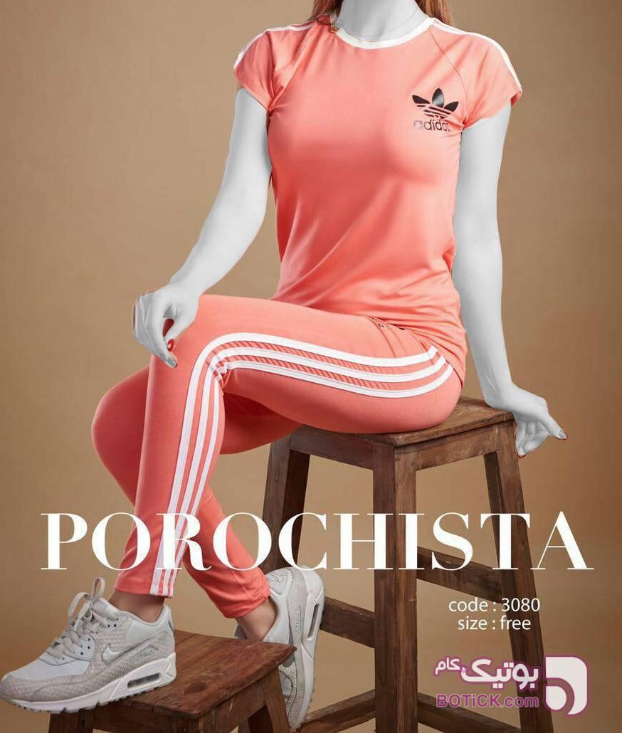 ست ورزشى تیشرت شلوار آدیداس صورتی ست ورزشی زنانه