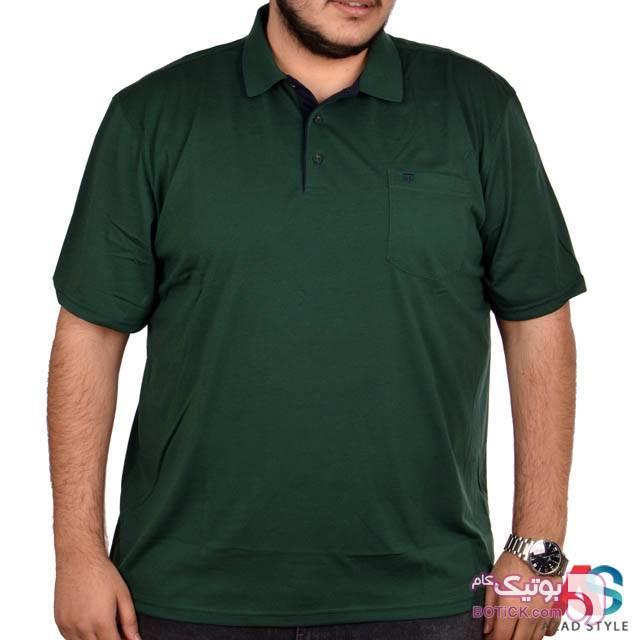 تی شرت آستین کوتاه سایز بزرگ tony22n سفید سایز بزرگ مردانه