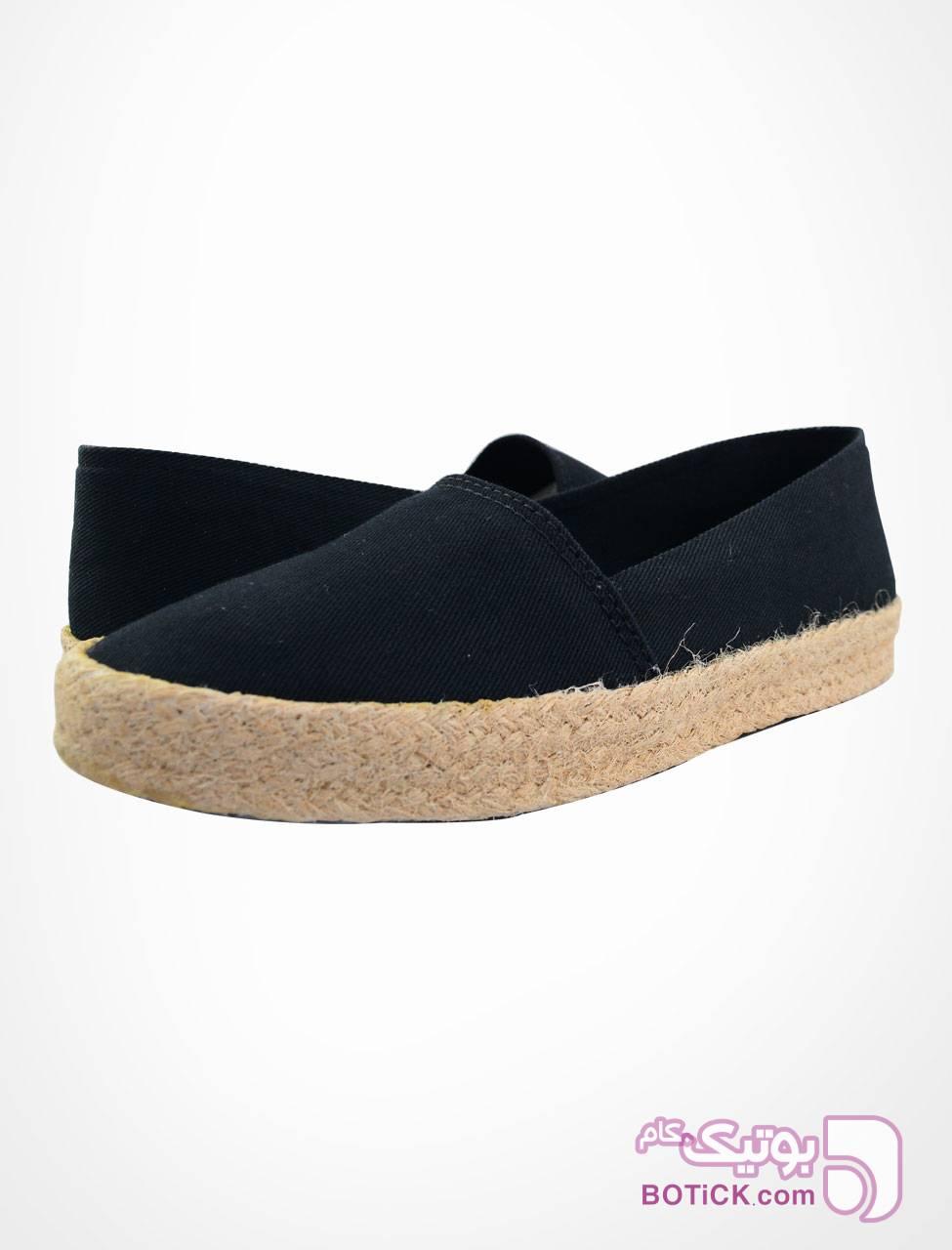 کفش زنانه راحتی پارچه ای مشکی ساده مشکی كفش زنانه