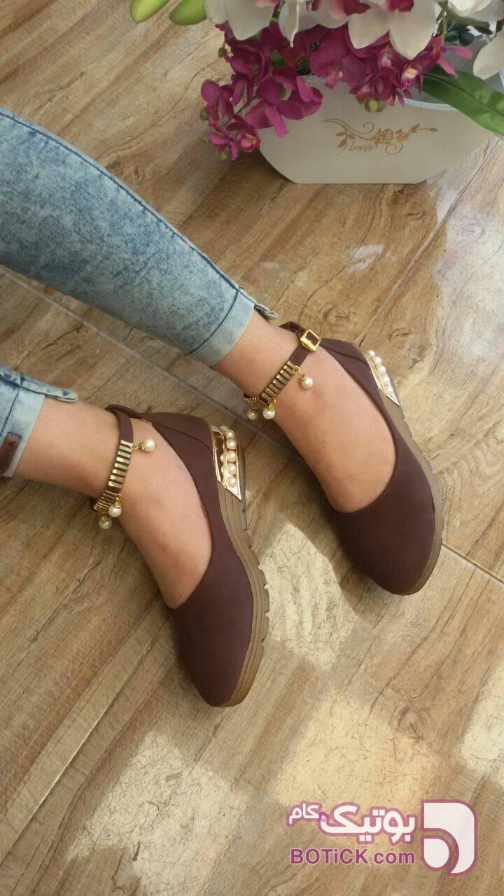 کفش قهوه ای كفش زنانه
